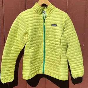 Patagonia down sweater women's l bright yellow